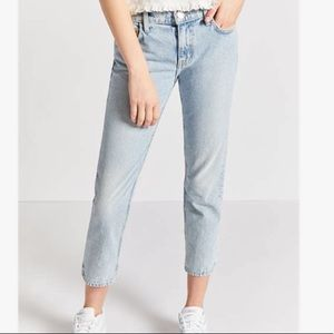 Current/Elliott the cropped straight jeans 30